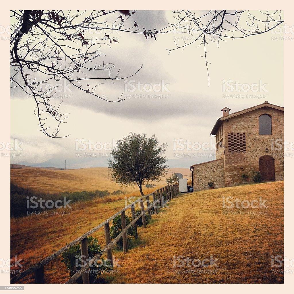 Farmhouse from Tuscany royalty-free stock photo