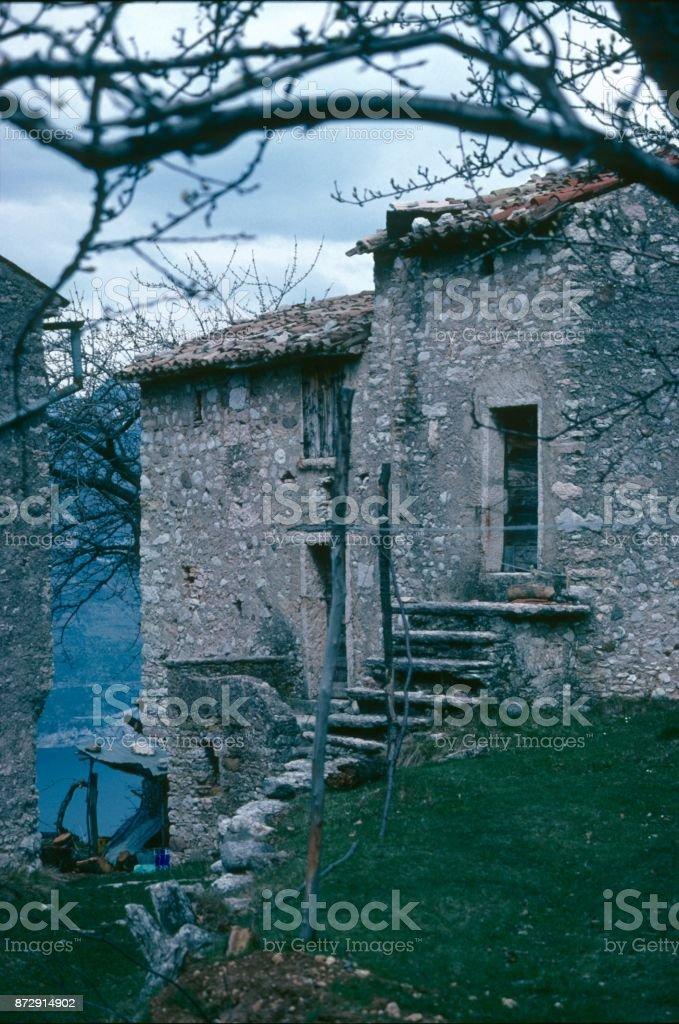 Farmhouse in Dalmatia stock photo