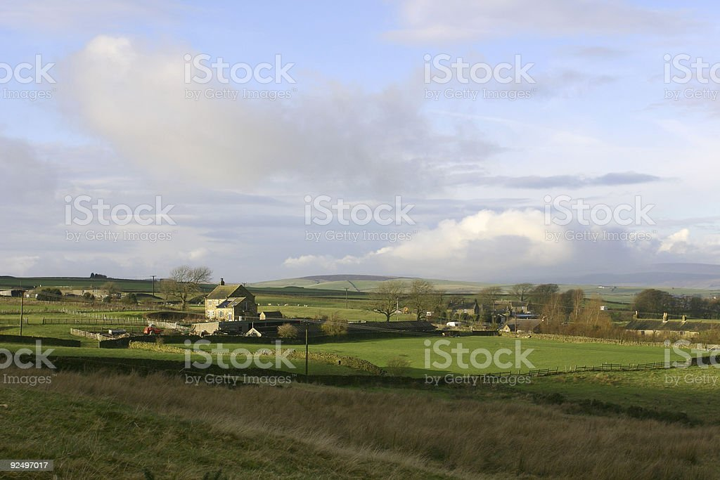 farmhouse in English countryside, Yorkshire royalty-free stock photo