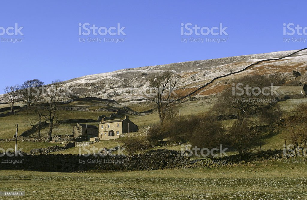 farmhouse in rural Yorkshire countryside, England royalty-free stock photo