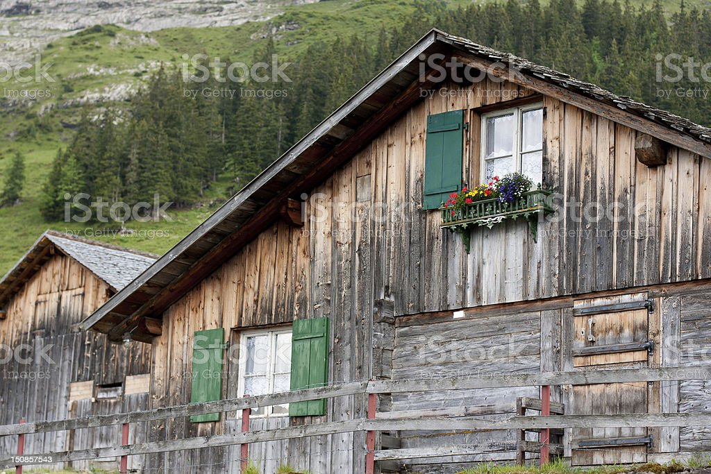 Farmhouse in the Alps royalty-free stock photo