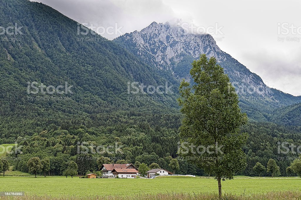 Farmhouse in the Valley royalty-free stock photo