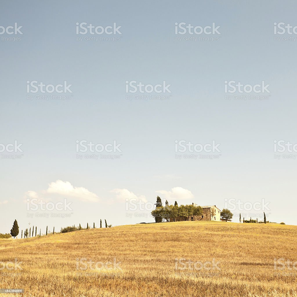 Farmhouse in Tuscany at Summer royalty-free stock photo