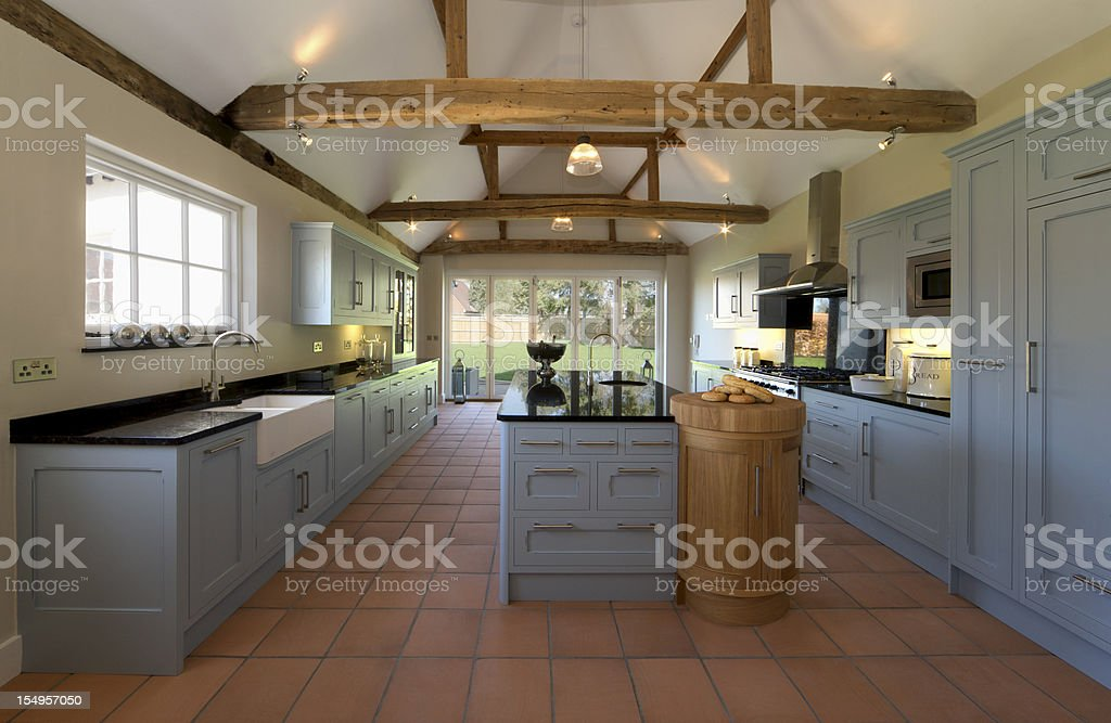 Farmhouse Kitchen stock photo