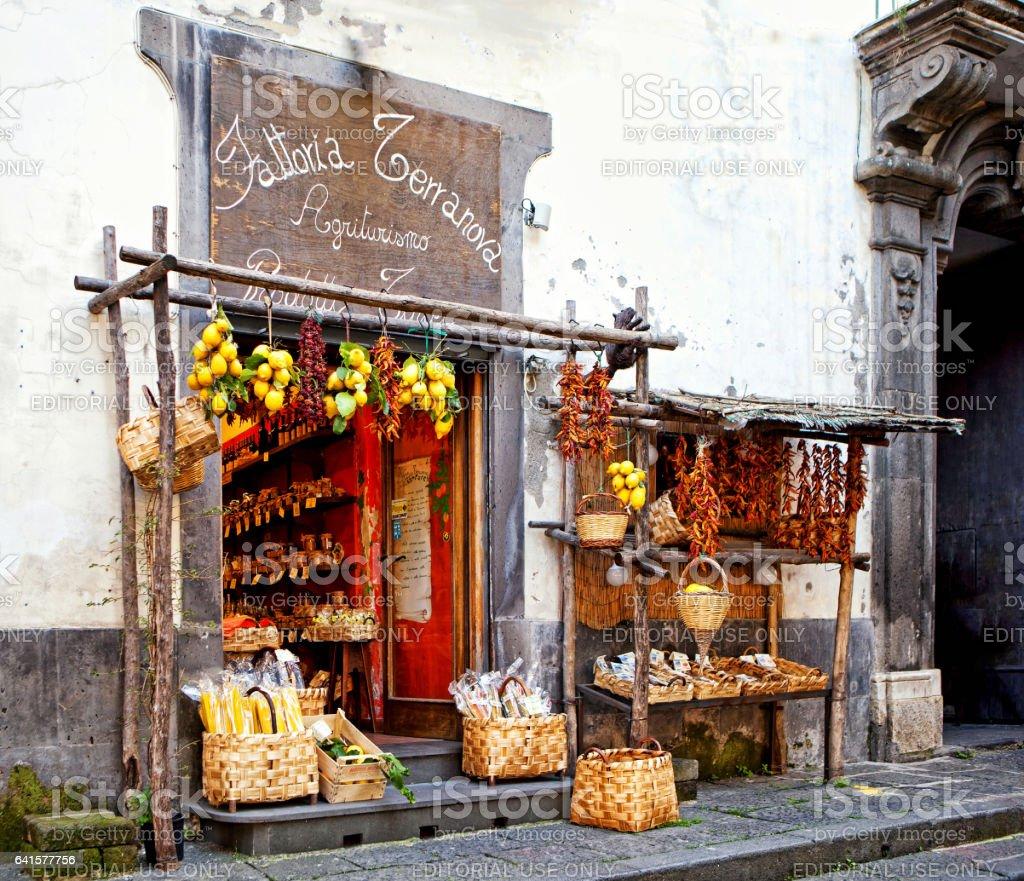 Farmhouse Market in Sorrento Italy stock photo