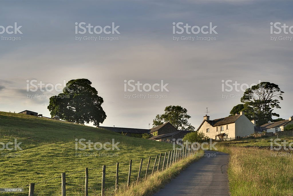Farmhouse near Ings stock photo