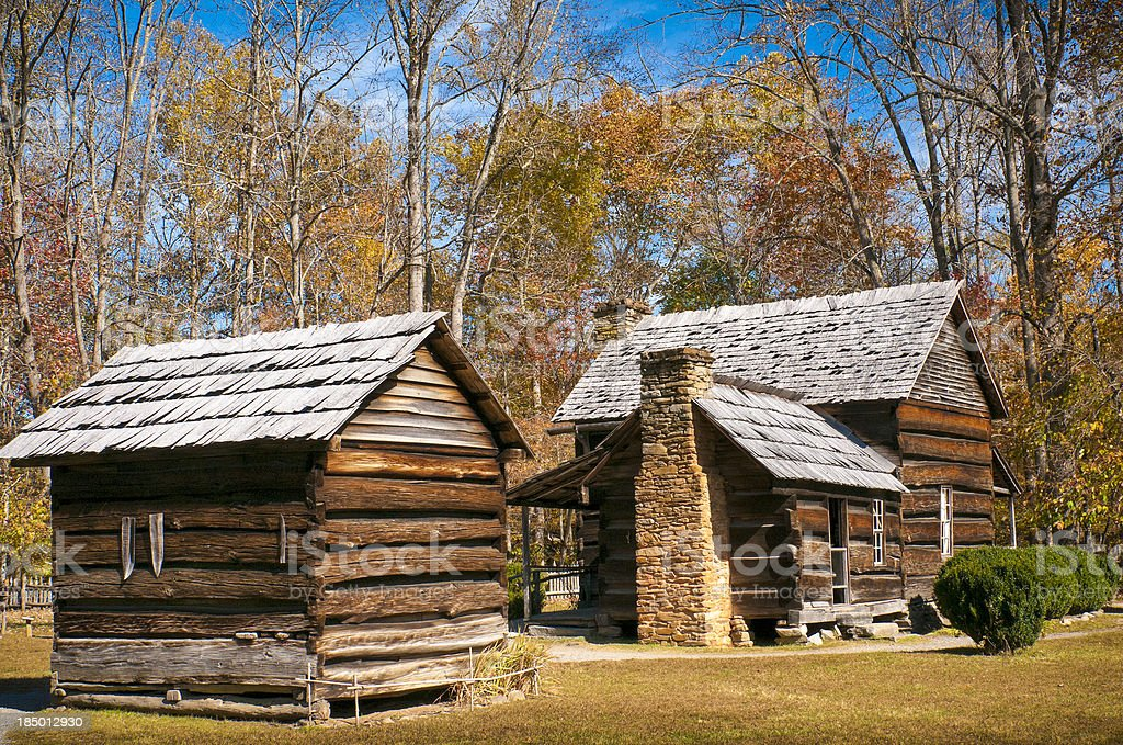 Farmhouse, Oconaluftee, Great Smoky Mountain National Park, North Carolina, USA royalty-free stock photo