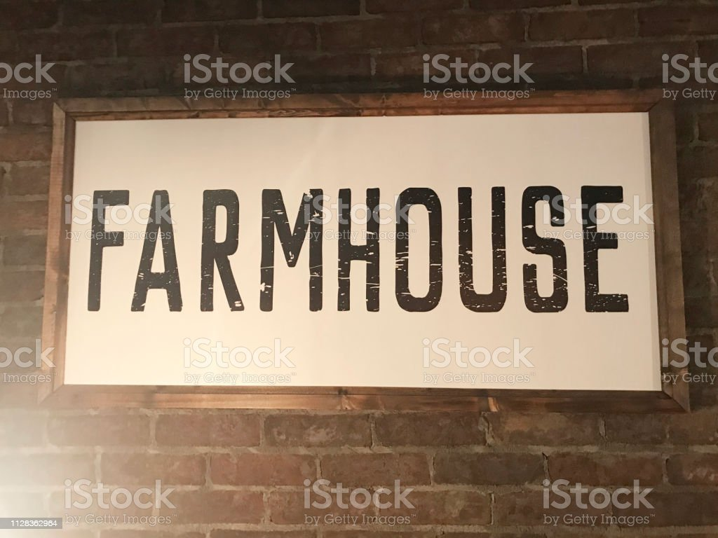 Farmhouse Word Art Stock Photo - Download Image Now - iStock
