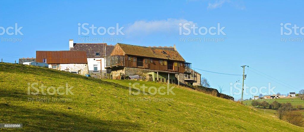 Farmhouses i stodół zbiór zdjęć royalty-free