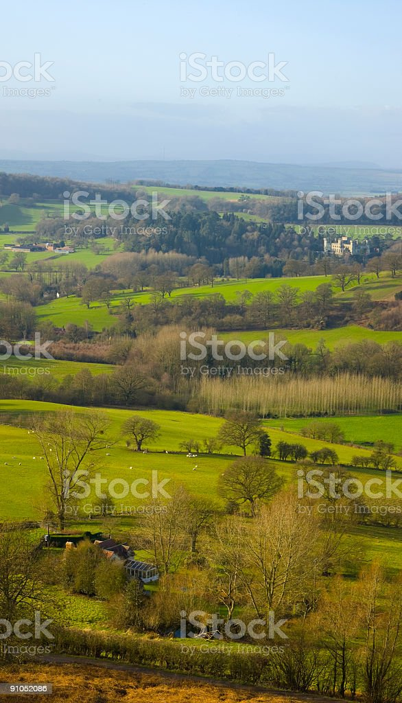 Farmhouses and castles stock photo
