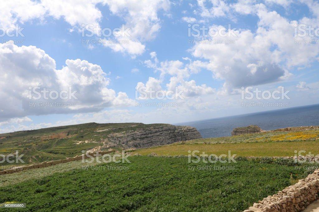 Farming at Gozo Island of Malta at Mediterranean Sea - Royalty-free Agave Stock Photo