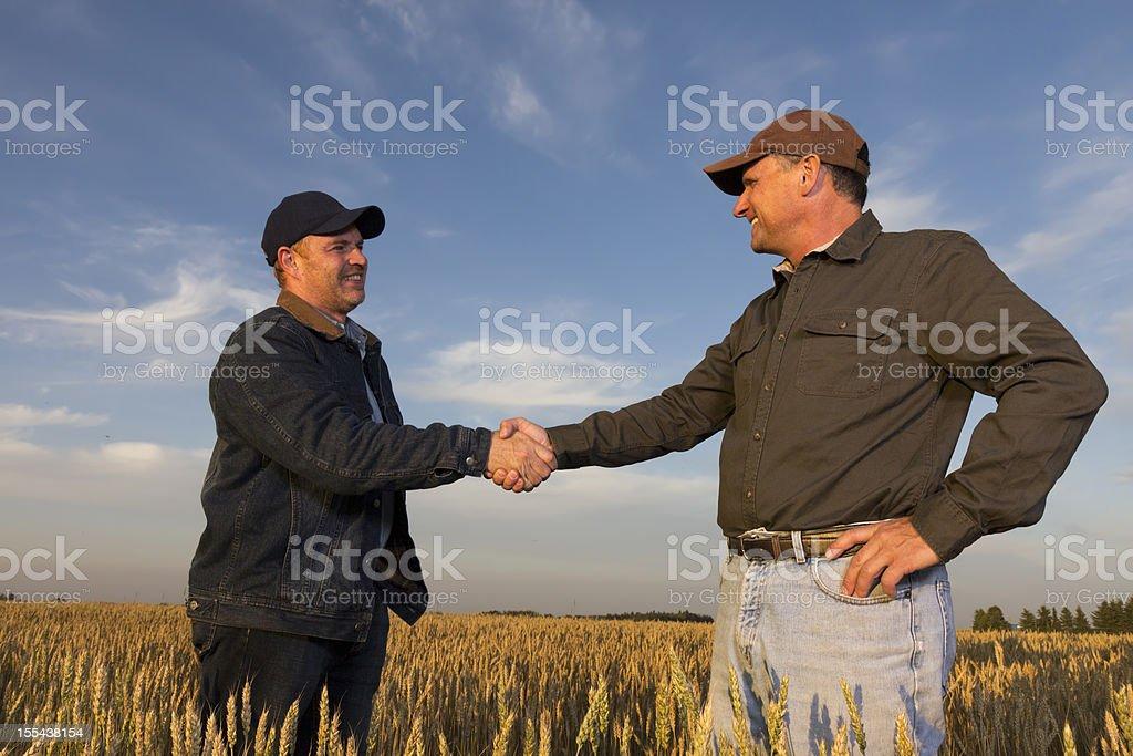 Farming Handshake royalty-free stock photo