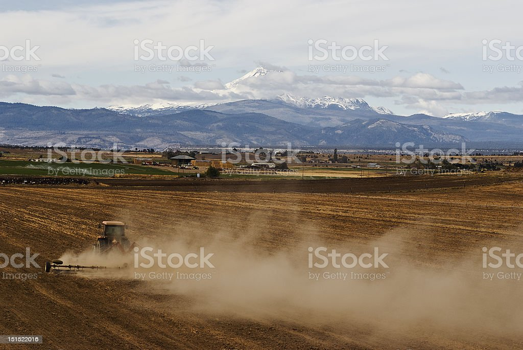 Farming in Eastern Oregon by Madras royalty-free stock photo