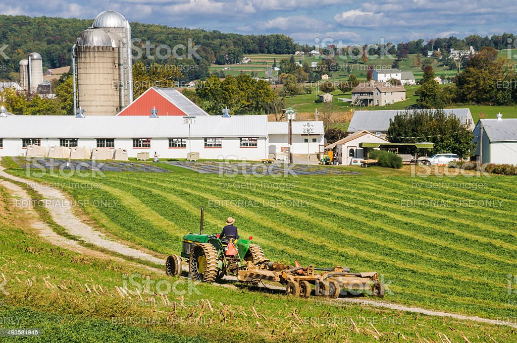 Farming in Lancaster County stock photo
