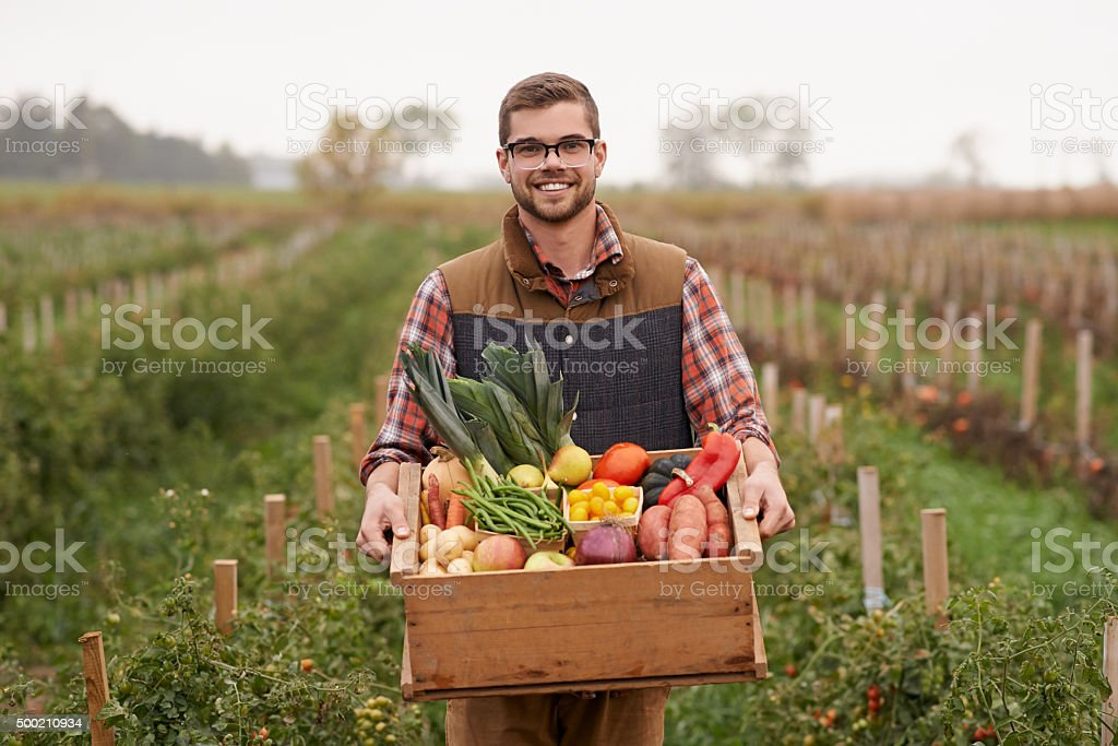 Farming is the life for me stock photo