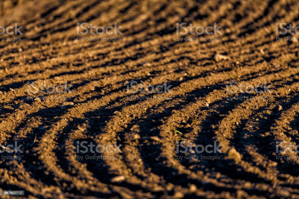 Farming made art stock photo