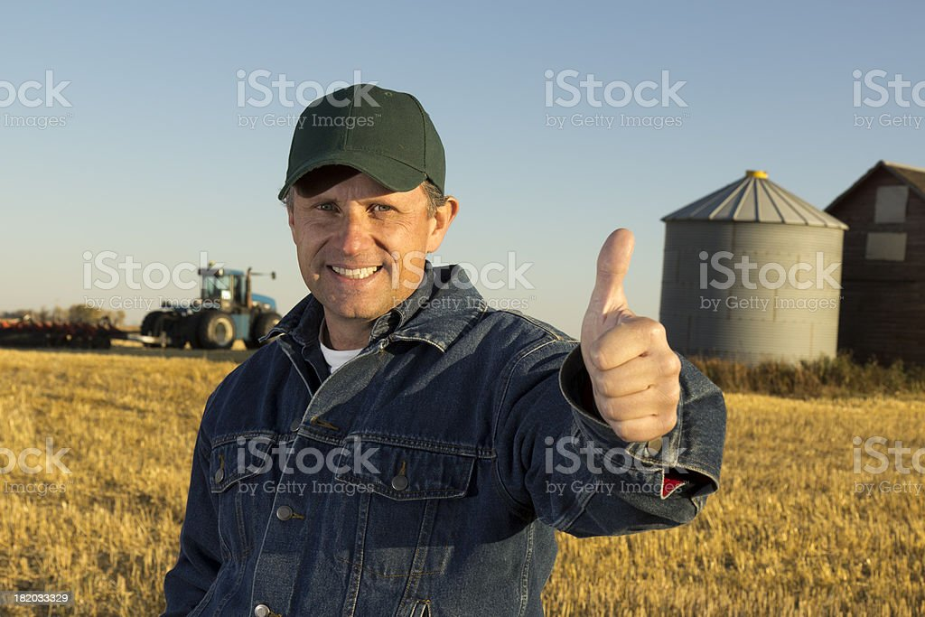 Farming Thumbs Up royalty-free stock photo