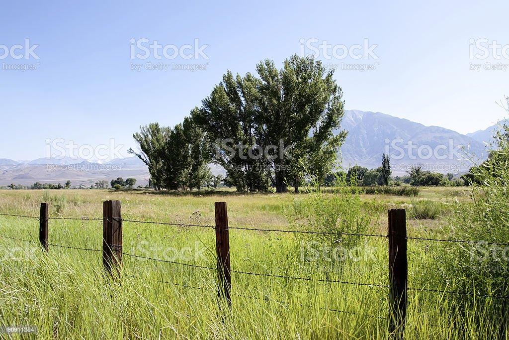 Farmland at Sierra Nevadas, California royalty-free stock photo