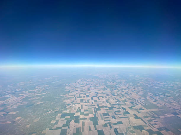 Farmland From Space stock photo