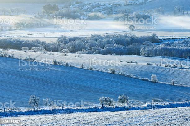 Photo of Farmland in heavy frost