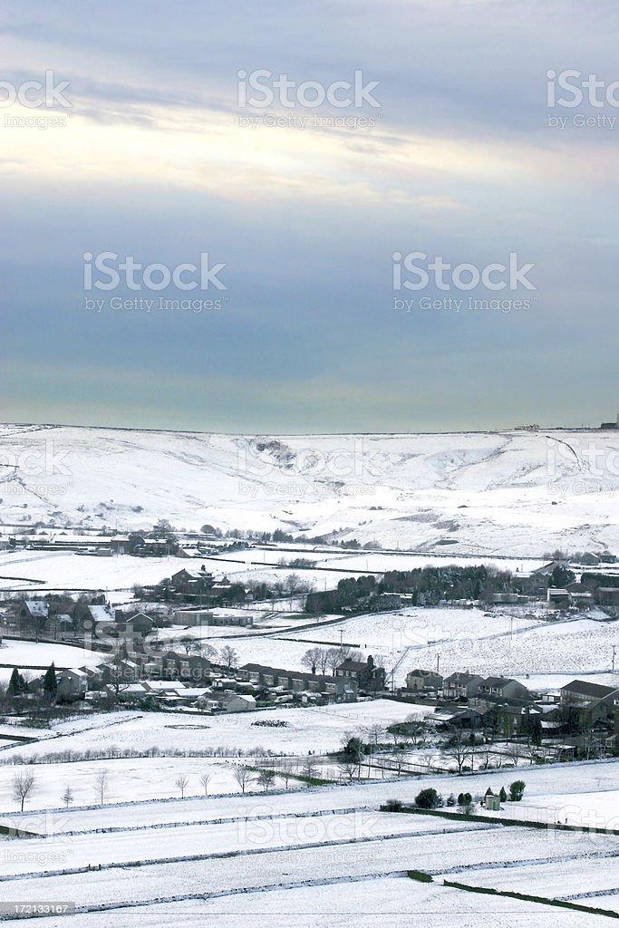 Farmland in Winter royalty-free stock photo