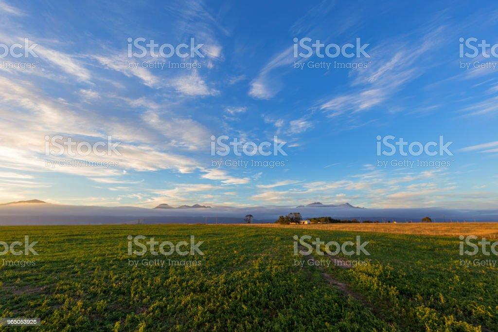 farmland sunrise sunset royalty-free stock photo