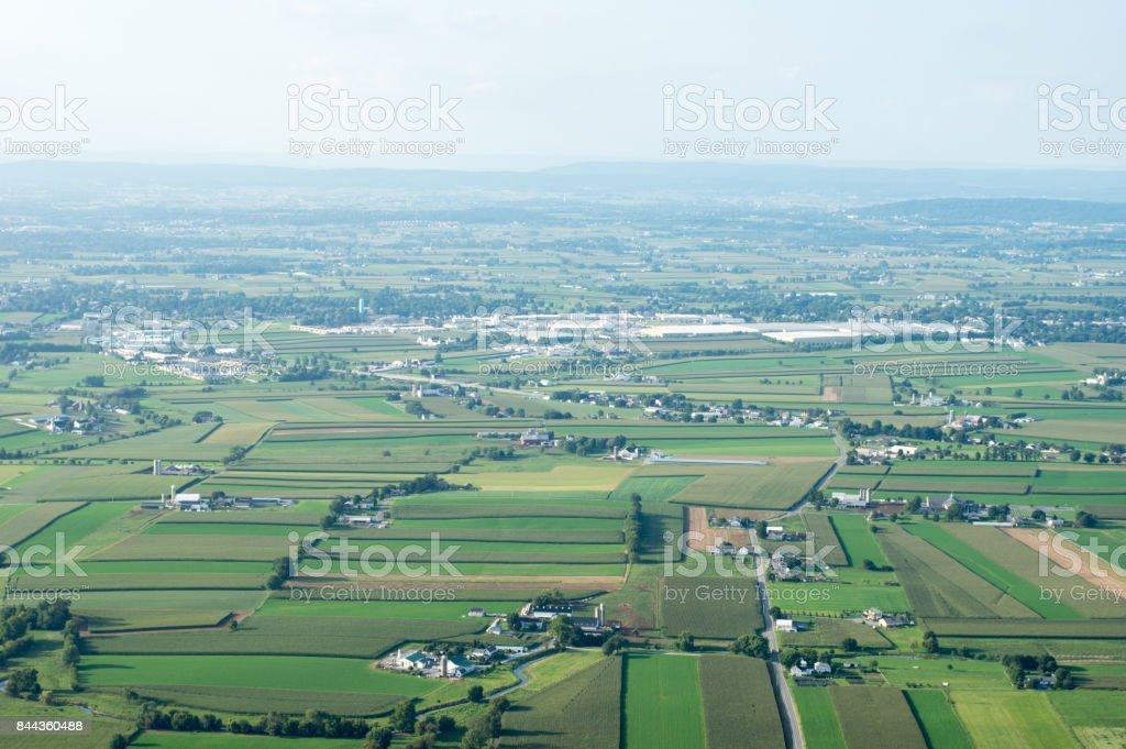 Farmland to the Horizon stock photo