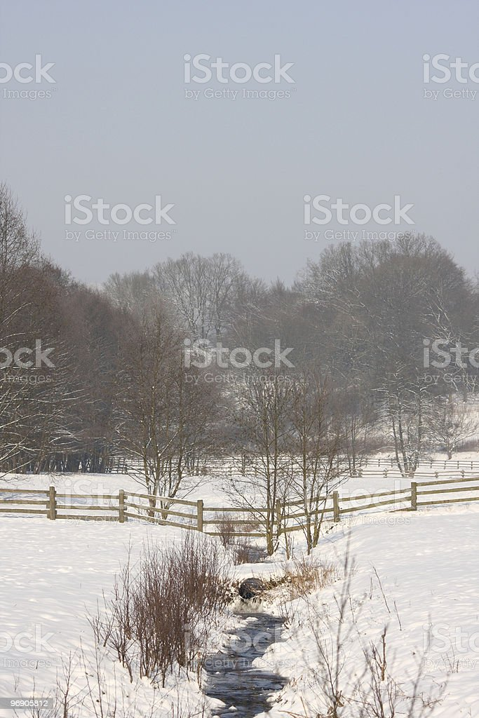 Farmland valley royalty-free stock photo
