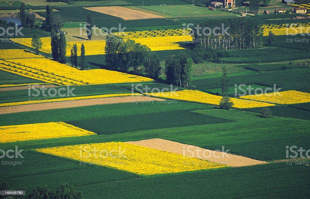 Farmlands France stock photo