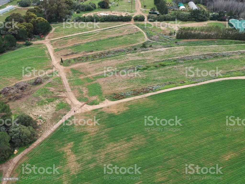 Farmlands from Above stock photo