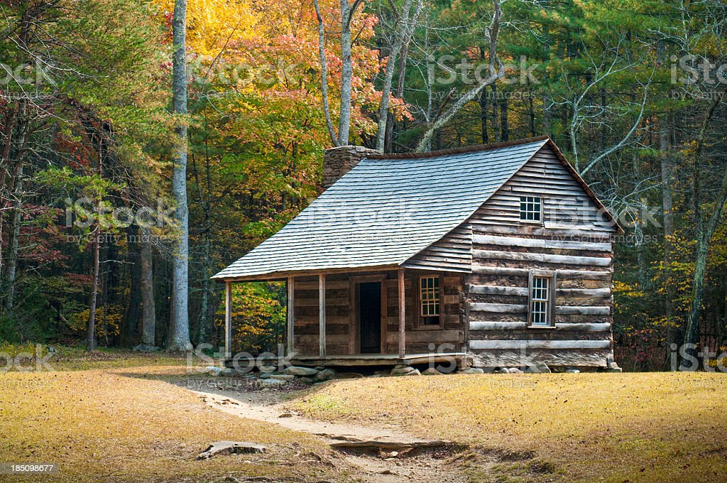 Farmstead, Cades Cove, Great Smoky Mountains, Gatlinburg, Tennessee, USA stock photo