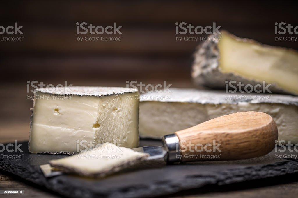 Farmstead cheese stock photo