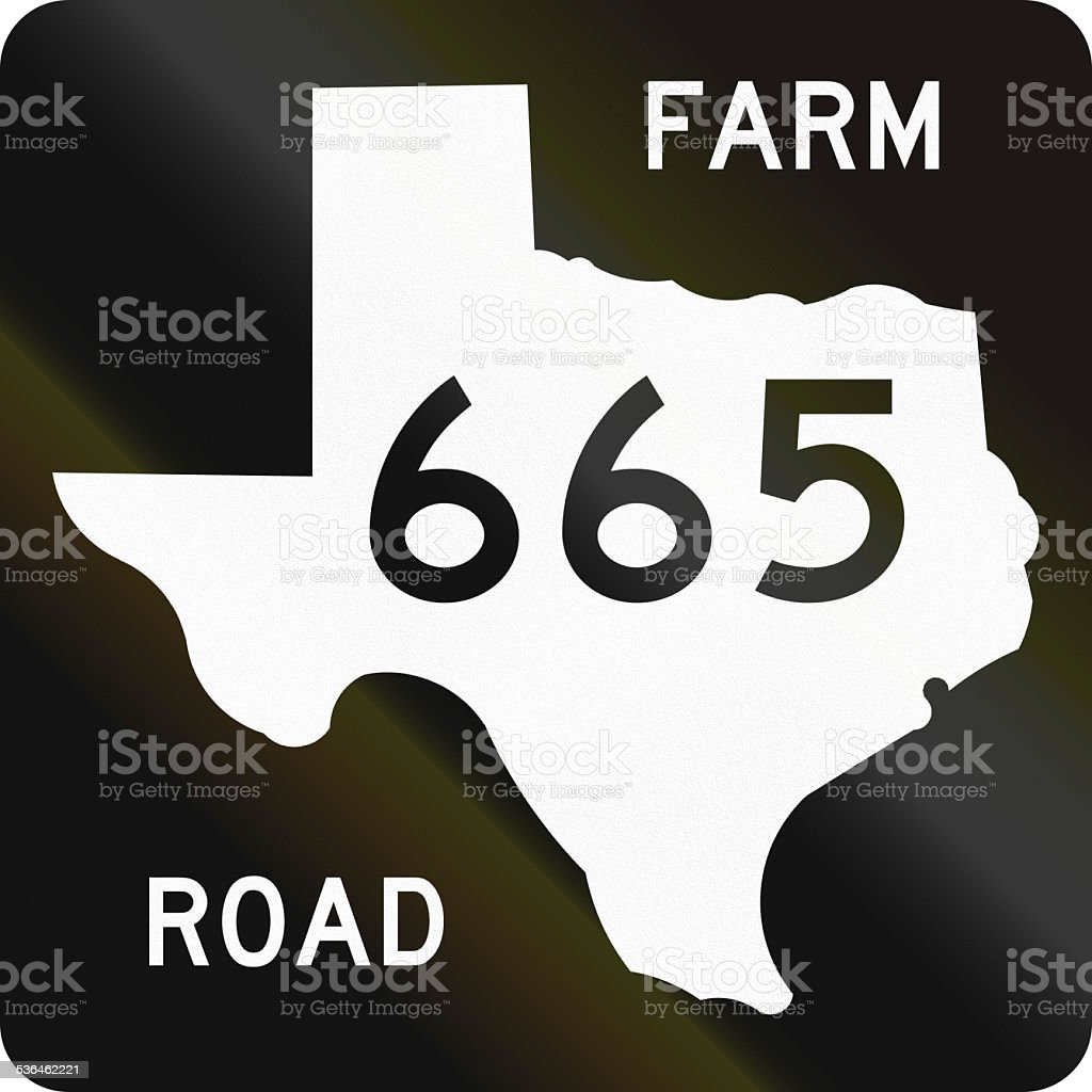Farm-To-Market-Road Shield stock photo