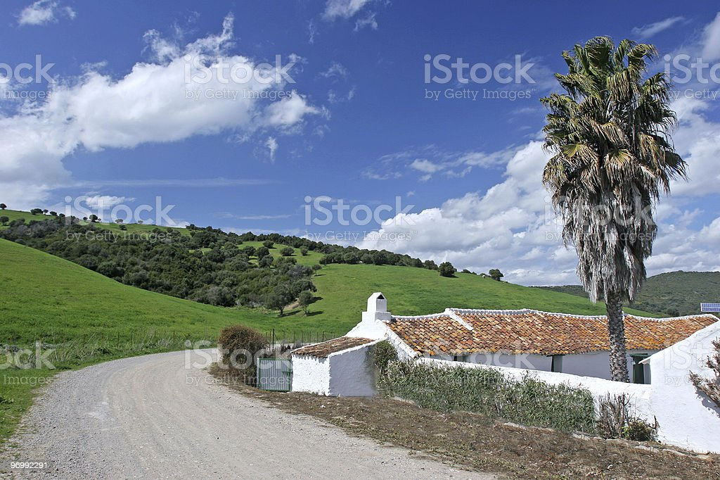 Farmyard or Cortijo in the Spanish Andalucian countryside royalty-free stock photo
