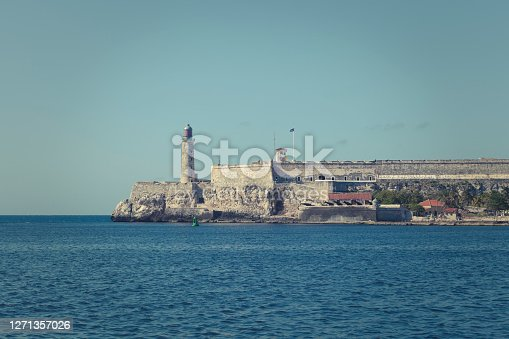 istock faro castillo del morro lighthouse in havana, cuba. 1271357026