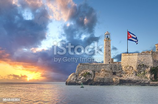 Faro Castillo del Morro is a lighthouse located in Havana, Cuba. It was built in 1845 on the ramparts of the Castillo de los Tres Reyes Magos del Morro, an old fortress guarding the harbor of Havana.