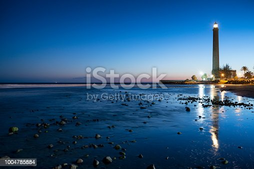 Lighthouse at  Maspalomas, Faro de Maspalomas, Meloneras,  Gran Canaria, Kanaren, Spanien,