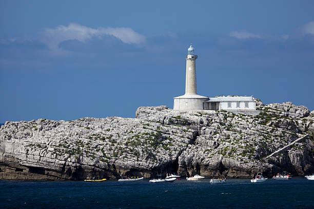 Faro De Mouro, Lighthouse at Santander. Cantabria,North Spain, Europe