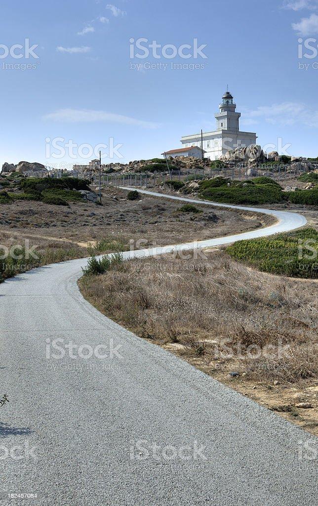 Faro di Capo Testa Sardinia stock photo