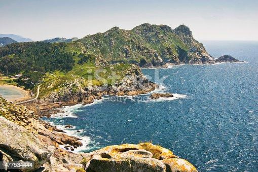 Faro Island At Vigo Estuary Stock Photo & More Pictures of 2015
