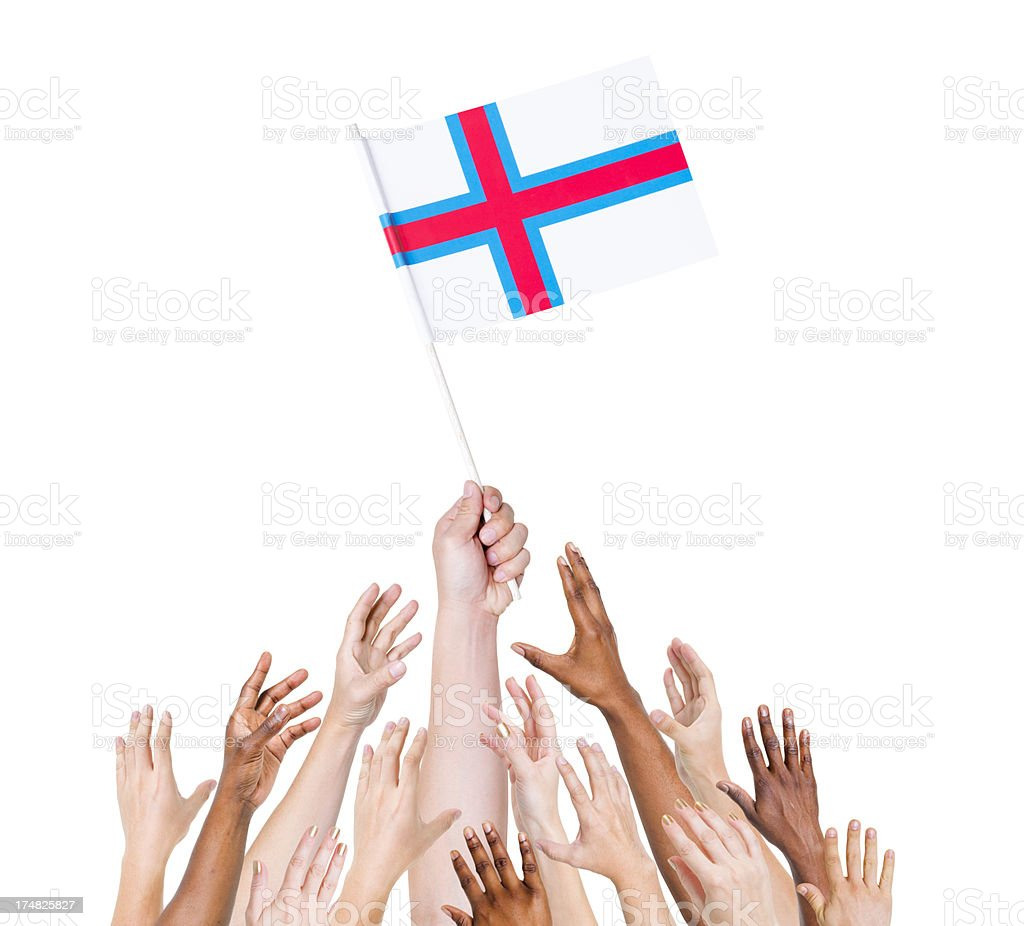Faroe Island flag royalty-free stock photo