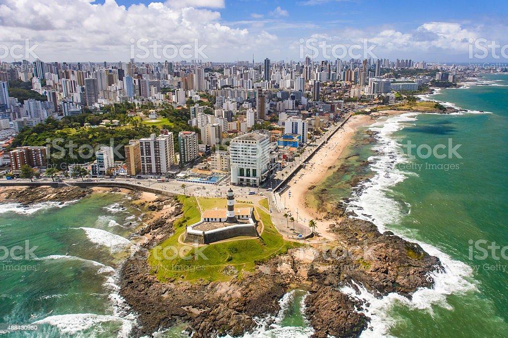Farol da Barra de Salvador, Bahia, Brasil - foto de acervo