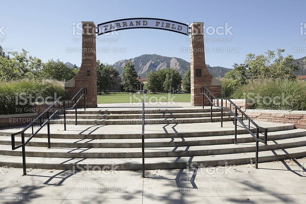 Farrand Field, University of Colorado, Boulder stock photo