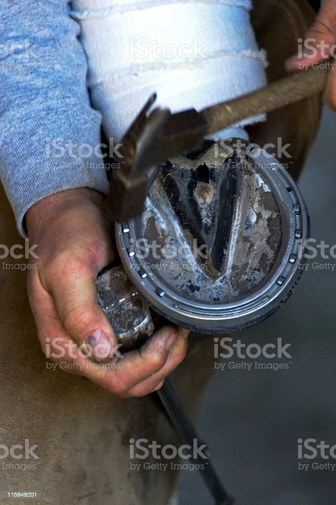 Farrier royalty-free stock photo