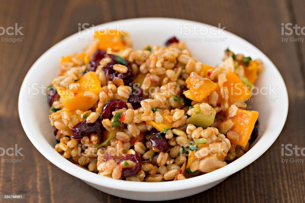 Farro And Butternut Salad stock photo