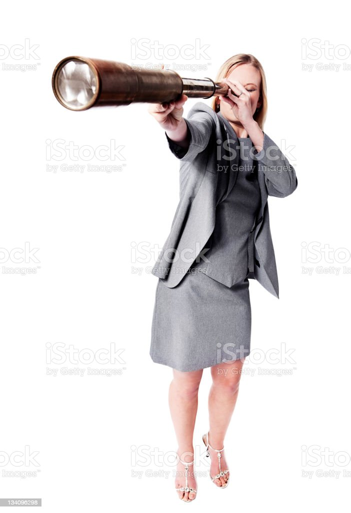 Far-sighted businesswoman royalty-free stock photo