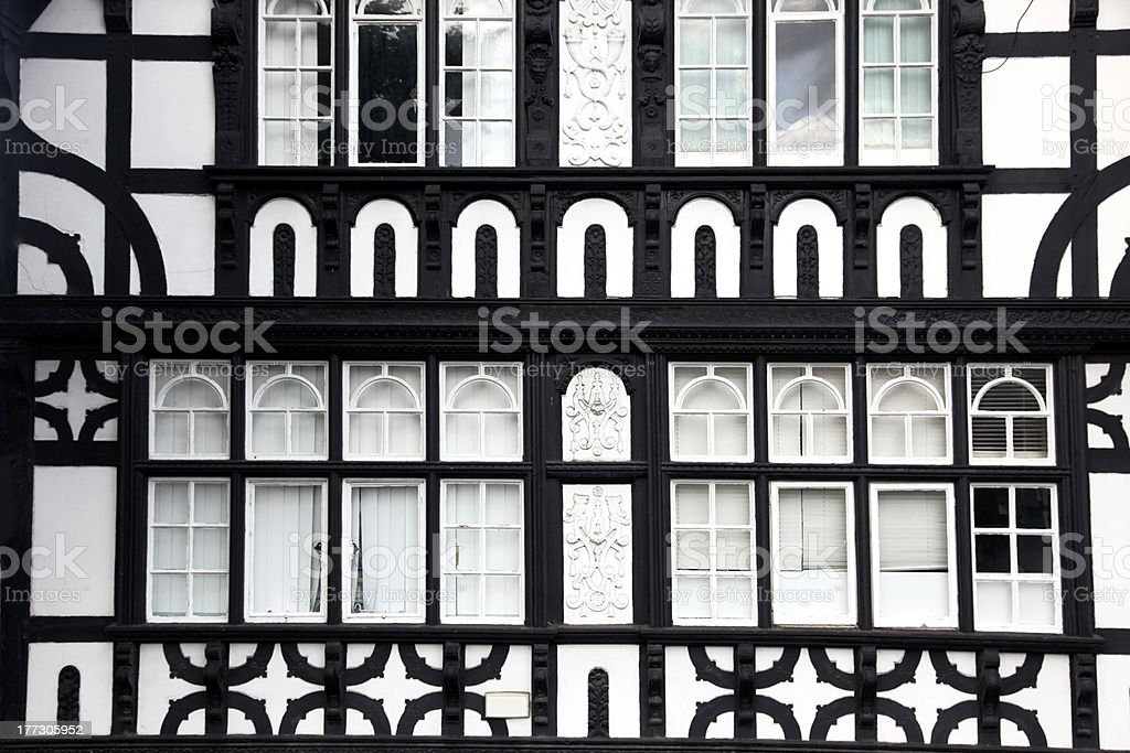 Fasade house of Tudor style in Chester royalty-free stock photo