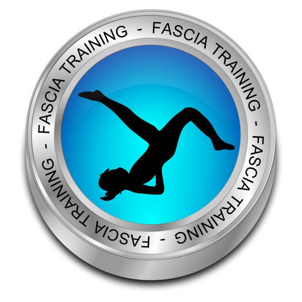 fascia training taste - 3d-illustration - blackroll übungen stock-fotos und bilder