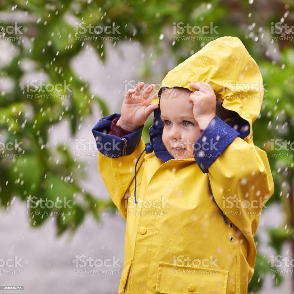 Fascinado pela chuva - foto de acervo