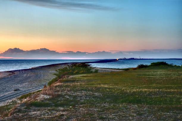 매혹적인 바다 경치는 섬의 가장 높은 지점에서 만든 스톡 사진
